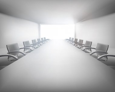 Meeting room. Vector illustration.