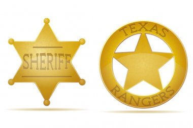 Star sheriff and ranger vector illustration isolated on white background stock vector