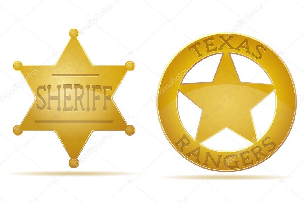 Estrella Sheriff Y Ranger Vector