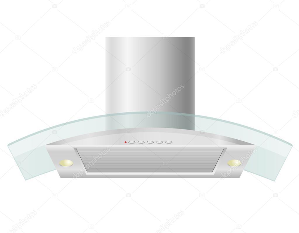 campana extractora para la ilustración de vector de cocina — Vector ...
