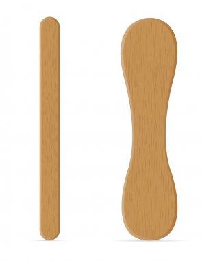 wooden sticks for ice cream vector illustration