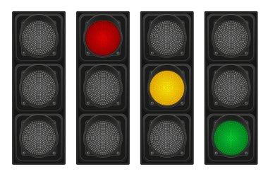 traffic lights for cars vector illustration