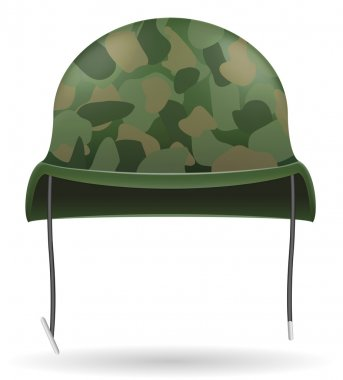 Military helmets vector illustration isolated on white background stock vector