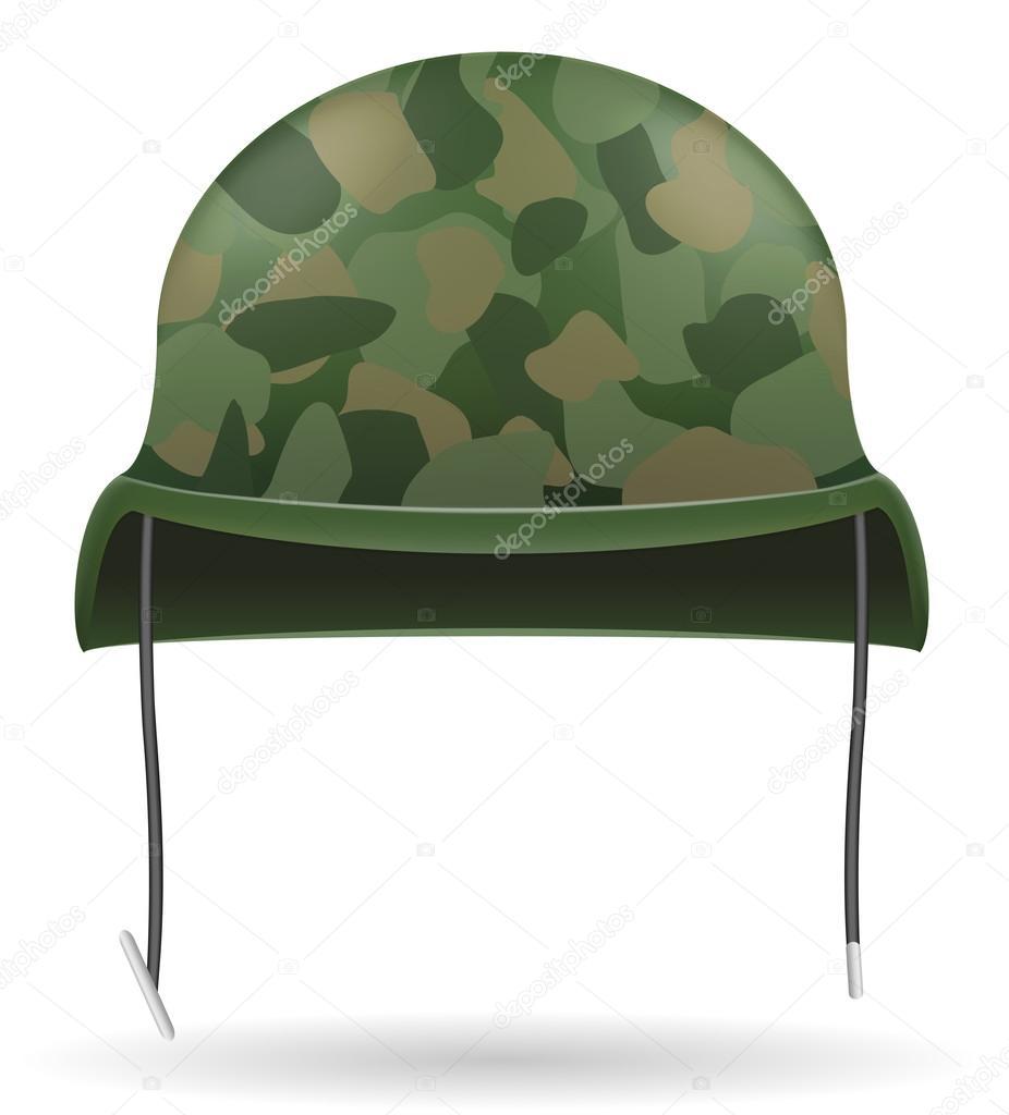 military helmets vector illustration