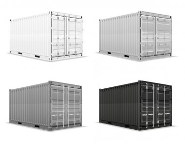 Cargo container vector illustration isolated on white background stock vector