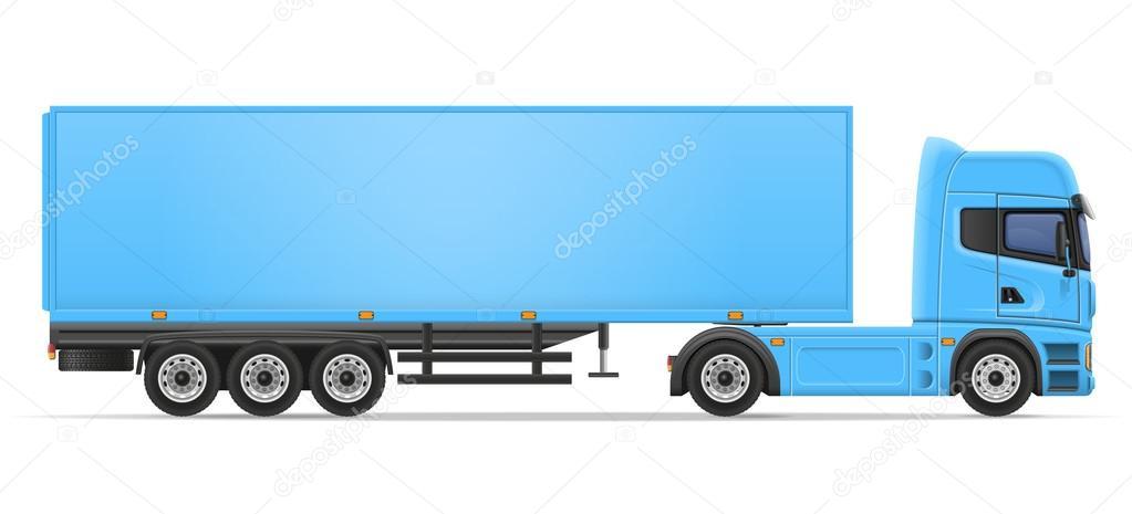 Illustration vectorielle de camion semi remorque image - Dessin de camion semi remorque ...