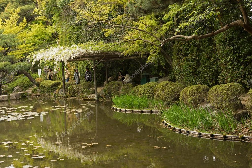 The scenery of Japanese garden near Heian Shrine.