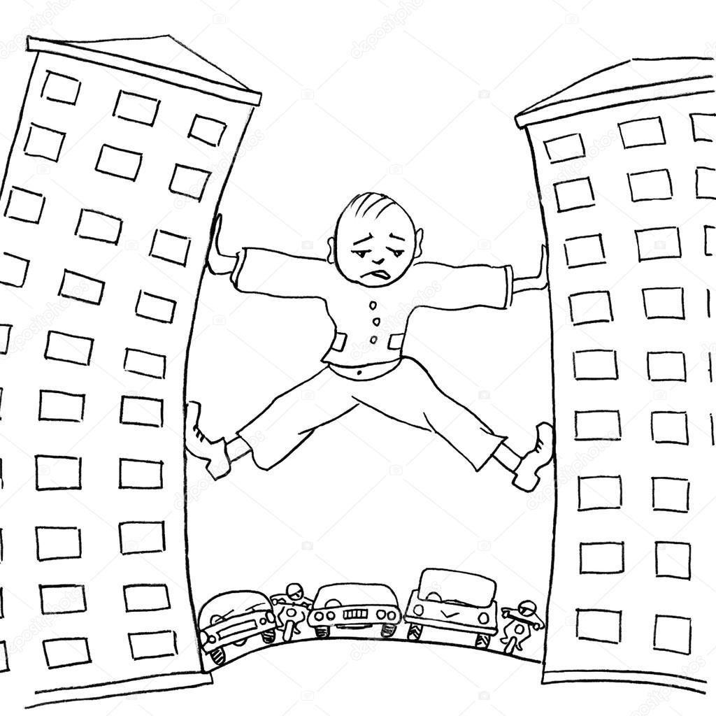 Hombre Triste Tratando De Moverse De Casa Que Impiden El Transporte
