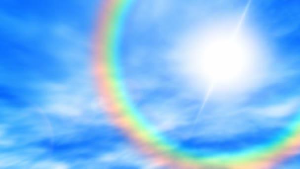 Duha na obloze (bezešvá smyčka)