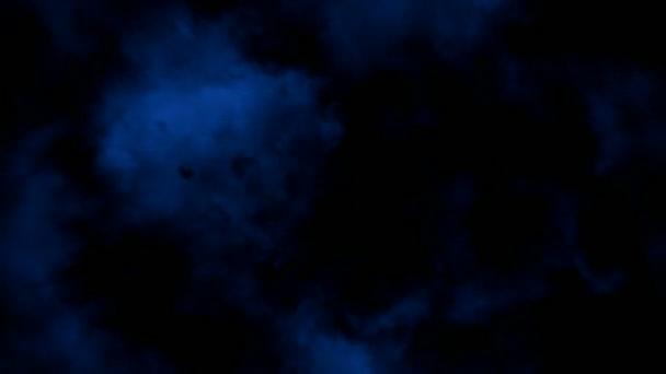 Lightnings in blue (seamless loop)