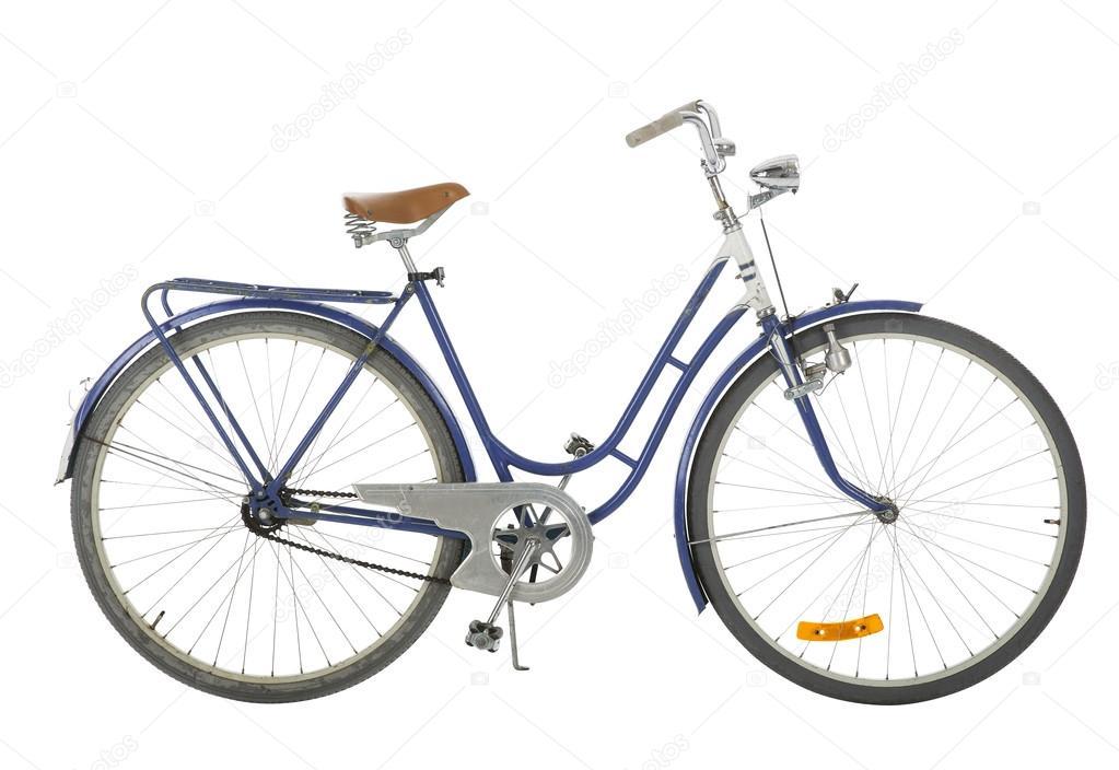 Ancienne Bicyclette bleu à l'ancienne bicyclette — photographie gemenacom © #66049701