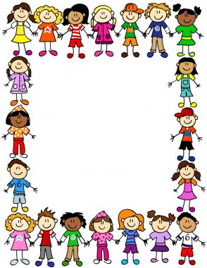 Seamless kids friendship pattern 2