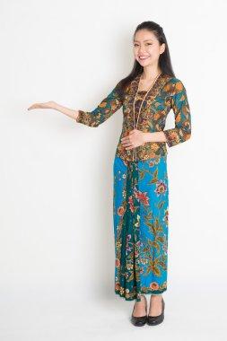 Asian girl hand holding something