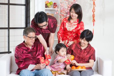 Chinese New Year giving red packets
