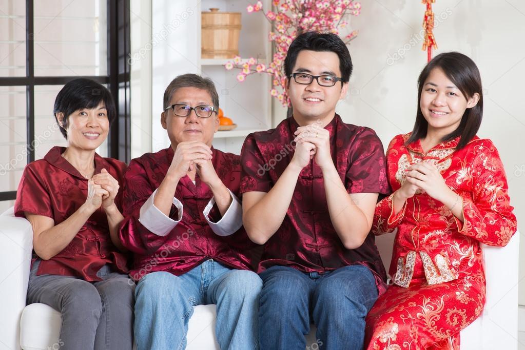 Chinesisches Neujahr-Begrüßung — Stockfoto © szefei #78977604