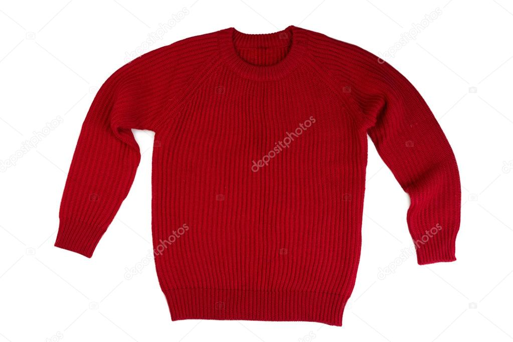 95257ab3cabb κόκκινο πλεκτά πουλόβερ — Φωτογραφία Αρχείου © Ruslan  116531360