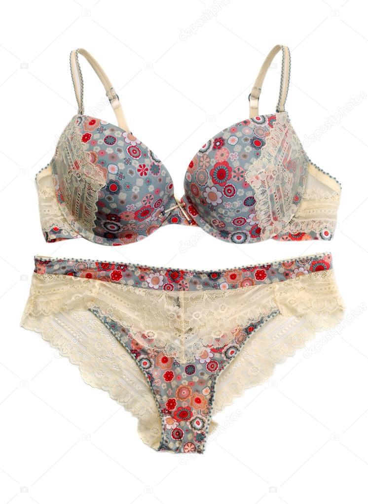 8e0862f48 Conjunto de lingerie delicada de cor — Fotografias de Stock © Ruslan ...