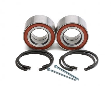 Set of two wheel bearings and four locking rings in the two cott