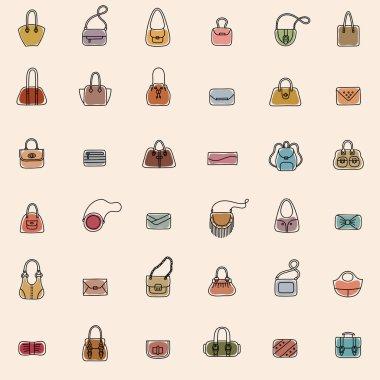 Bag Icons Seamless Pattern