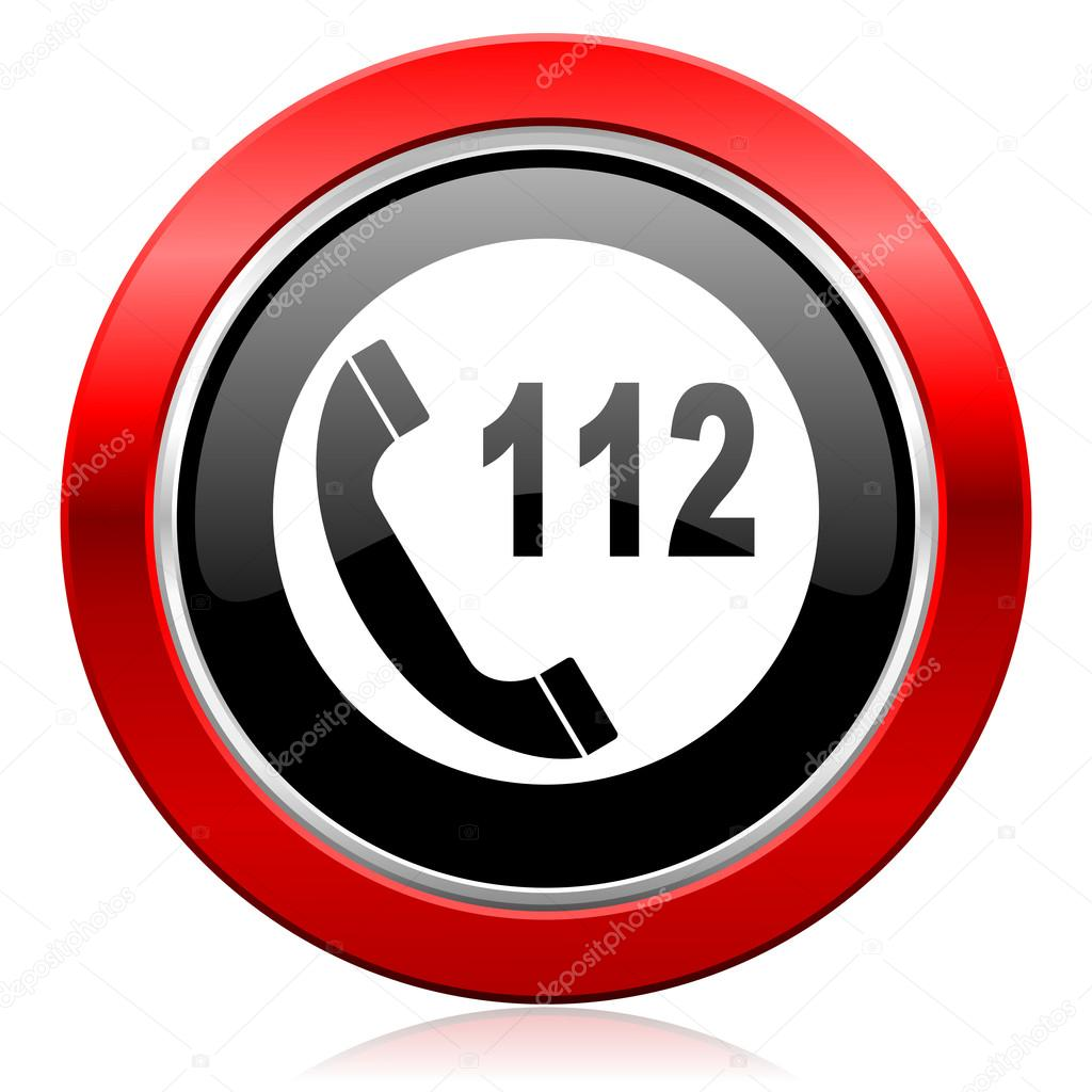 Emergency call icon 112 call sign — Stock Photo