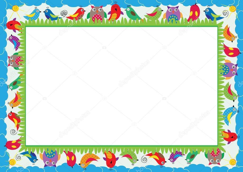 farbige rahmen für kinder — Stockvektor © justaa #117614130