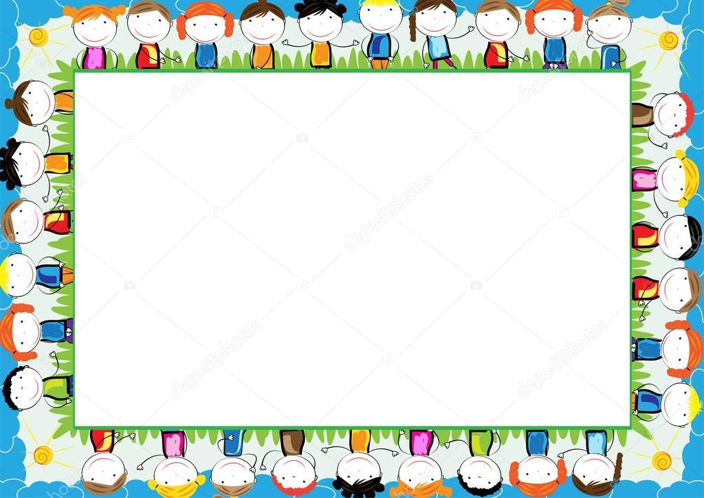 Farbige Rahmen für Kinder — Stockvektor © justaa #117614206