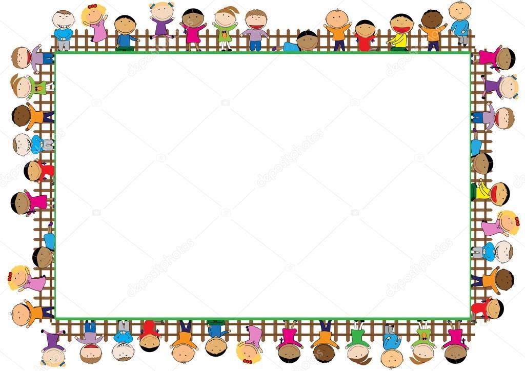 Fotos: marcos para niños | marco de color para los niños — Vector de ...
