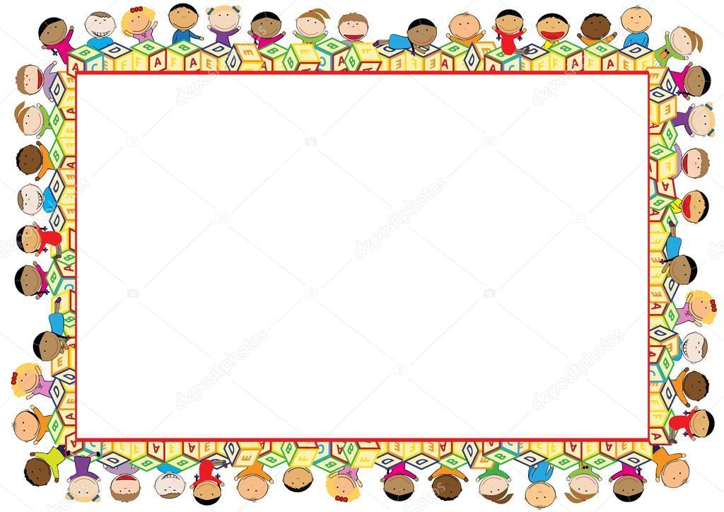 Cornice Colorata Per Bambini Vettoriali Stock Justaa 118059498