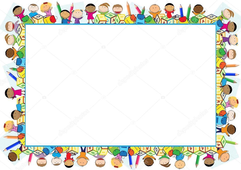 farbige rahmen für kinder — Stockvektor © justaa #118059582