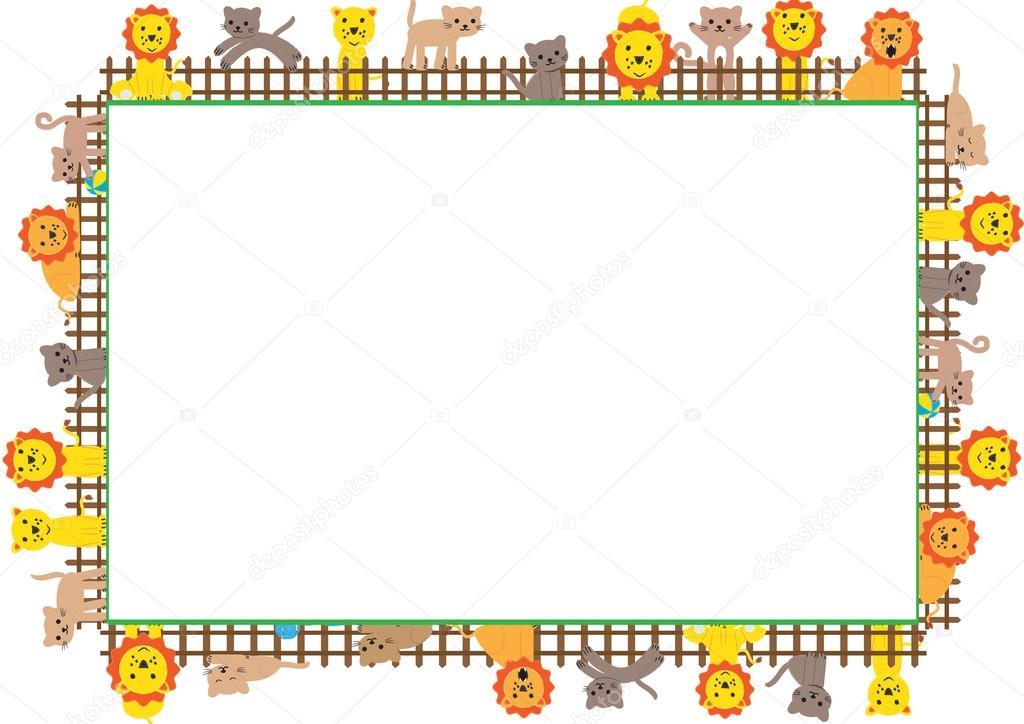 Dibujos: leones para niños a color | marco de color para los niños ...