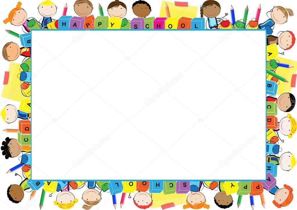 Cornice Colorata Per Bambini Vettoriali Stock Justaa 118059928