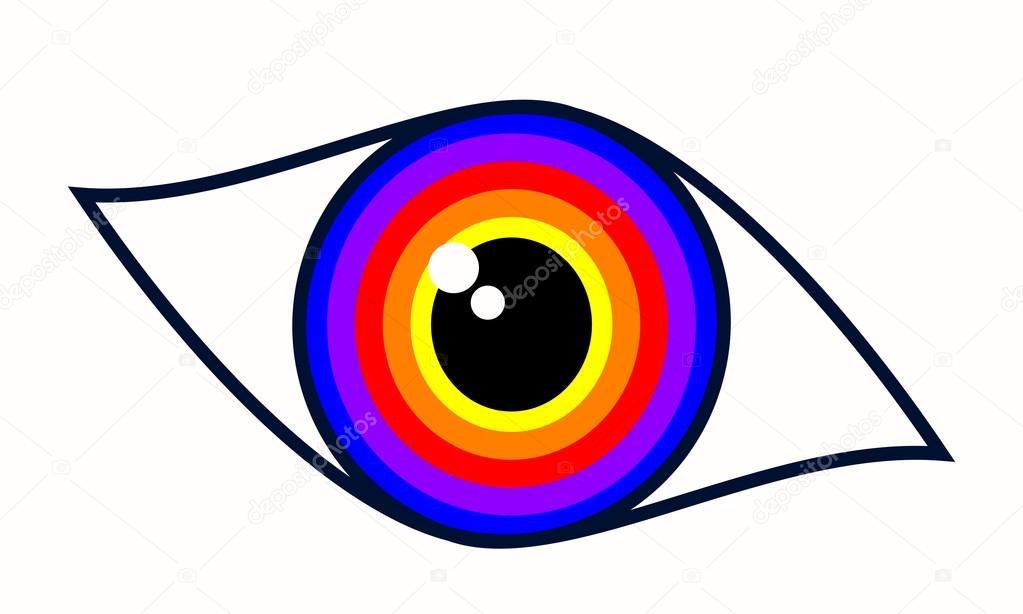 Beautiful Blue Woman Eye Symbol Stock Vector Ngaga35 116530952