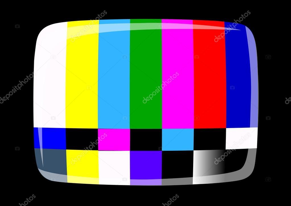テレビ - Ntsc 信号 — ストック...