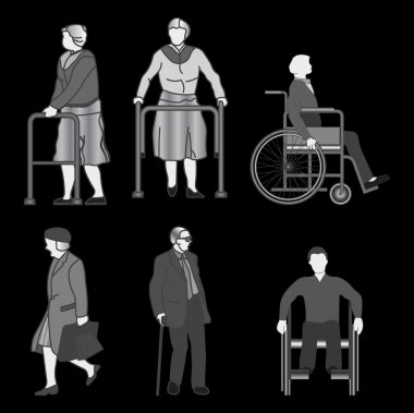 Old people and disabled persons