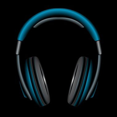 Blue Simple Headphones