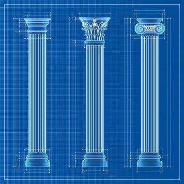 Classic columns sketch