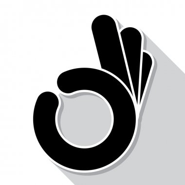 Abstract  OK hand symbol