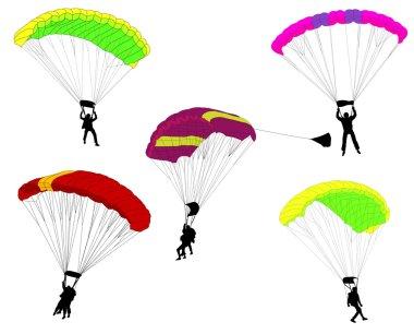 Skydivers illustration
