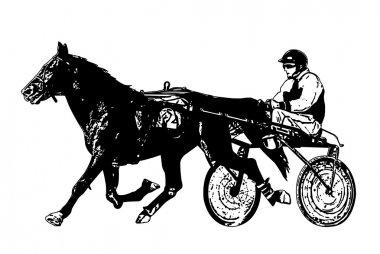 harness racing illustration
