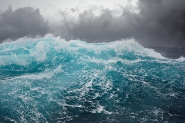 sea wave in the atlantic ocean during storm