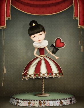 fairy queen with carousel