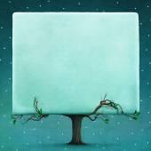 Fotografie zasněžené náměstí strom