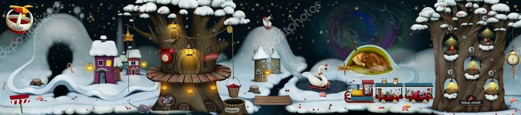 Fairy winter night