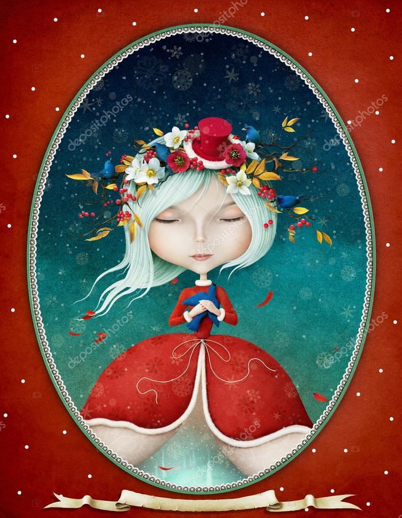 beautiful Snow Maiden girl