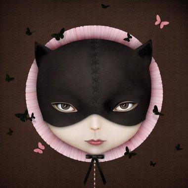 Cat girl's face