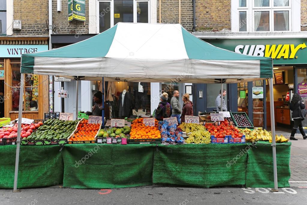Street Market Stall u2014 Stock Photo & Street Market Stall u2013 Stock Editorial Photo © Baloncici #56467575