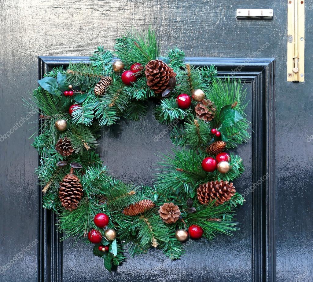 juldekoration till dörr
