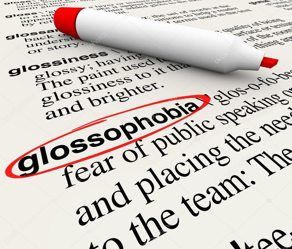 A definicion en miedo hablar publico