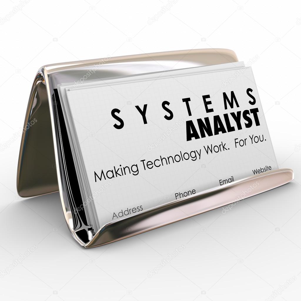 Systemanalytiker Visitenkarte Inhaber Computer Technologie