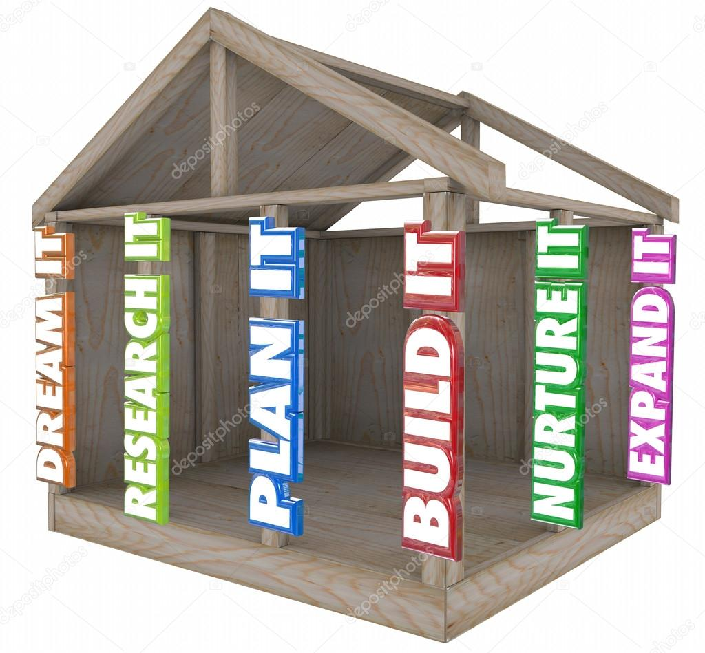 Letras 3D en un marco de madera de la casa — Foto de stock ...